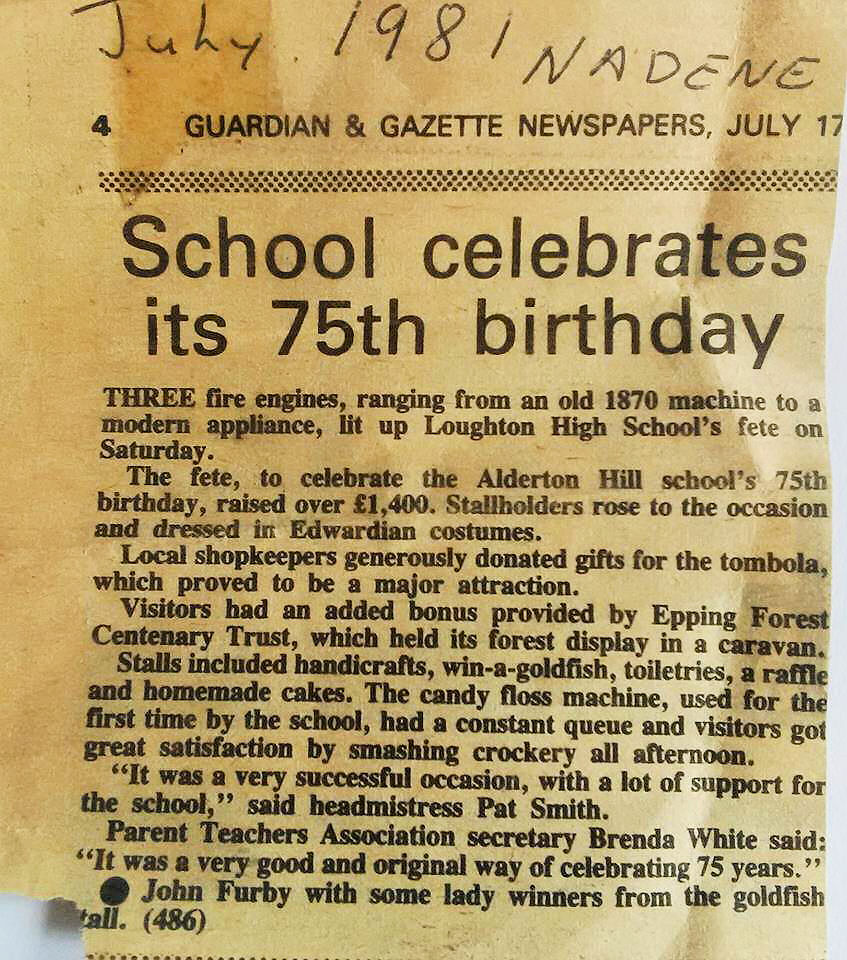 1981 School's 75th Birthday