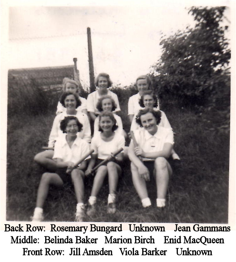 July 1951 Form 3 Victorious rounders team